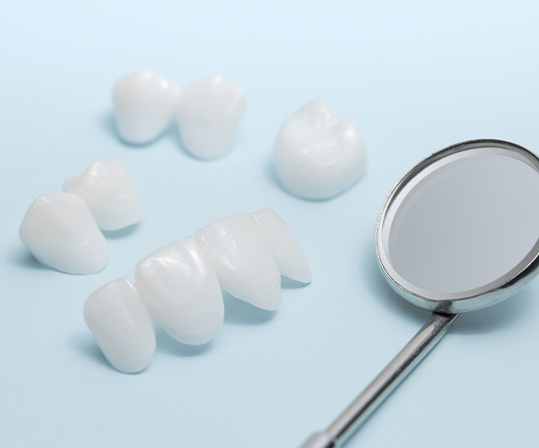 Different types of metal free dental crowns