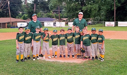 Doctor Markle and youth baseball team