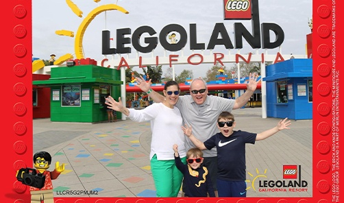 Doctor Markle and his family at Lego land